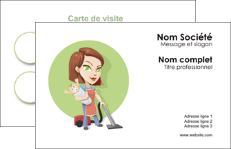 imprimer carte de visite agence de placement  femme de menage employe de maison nenene MLGI44570