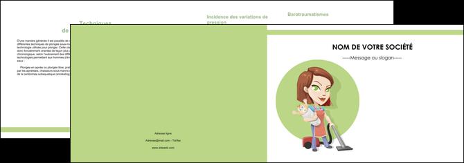 personnaliser maquette depliant 2 volets  4 pages  agence de placement  femme de menage employe de maison nenene MLGI44574