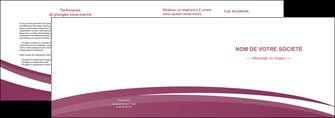 maquette en ligne a personnaliser depliant 2 volets  4 pages  texture structure design MLIG44630