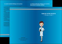 creation graphique en ligne depliant 2 volets  4 pages  infirmier infirmiere medecin docteur infirmier MIS44800