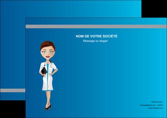 creation graphique en ligne flyers infirmier infirmiere medecin docteur infirmier MIS44806