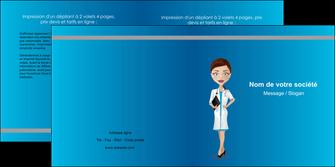 imprimerie depliant 2 volets  4 pages  infirmier infirmiere medecin docteur infirmier MLGI44810
