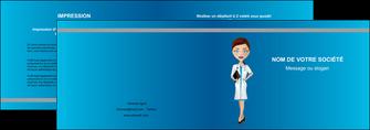 modele depliant 2 volets  4 pages  infirmier infirmiere medecin docteur infirmier MLGI44822