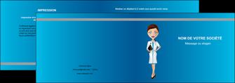 faire modele a imprimer depliant 2 volets  4 pages  infirmier infirmiere medecin docteur infirmier MLGI44824