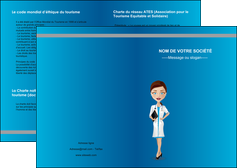 creer modele en ligne depliant 2 volets  4 pages  infirmier infirmiere medecin docteur infirmier MLGI44834