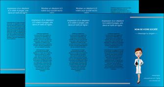 personnaliser modele de depliant 4 volets  8 pages  infirmier infirmiere medecin docteur infirmier MIS44842
