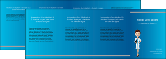 creation graphique en ligne depliant 4 volets  8 pages  infirmier infirmiere medecin docteur infirmier MIS44844