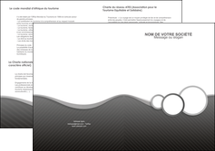 faire depliant 2 volets  4 pages  texture contexture structure MLIG44906