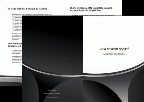 cree depliant 2 volets  4 pages  texture structure design MLGI44958