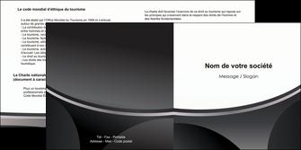 personnaliser maquette depliant 2 volets  4 pages  texture structure design MIF44960