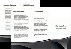 maquette en ligne a personnaliser depliant 3 volets  6 pages  texture structure design MIF44988