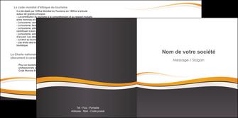 maquette en ligne a personnaliser depliant 2 volets  4 pages  standard design abstrait MIF45110