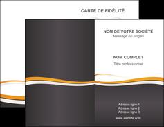 personnaliser maquette carte de visite standard design abstrait MIF45112