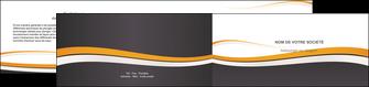 faire modele a imprimer depliant 2 volets  4 pages  standard design abstrait MIF45120