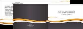 personnaliser modele de depliant 2 volets  4 pages  standard design abstrait MIF45122