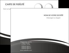 Impression carte de visite  Carte commerciale de fidélité papier à prix discount et format Carte de visite Double - Portrait