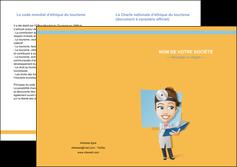 personnaliser modele de depliant 2 volets  4 pages  materiel de sante medecin medecine sante MIS45294