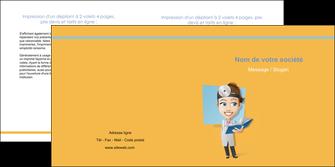 maquette en ligne a personnaliser depliant 2 volets  4 pages  materiel de sante medecin medecine sante MIS45304