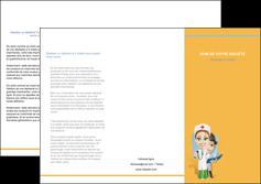 faire depliant 3 volets  6 pages  materiel de sante medecin medecine sante MIS45308