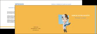 modele en ligne depliant 2 volets  4 pages  materiel de sante medecin medecine sante MIS45316