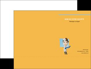 creation graphique en ligne pochette a rabat materiel de sante medecin medecine sante MIS45320