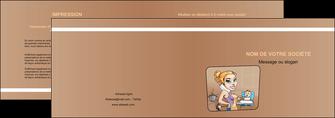 maquette en ligne a personnaliser depliant 2 volets  4 pages  menagere femme femme au foyer MLGI45396