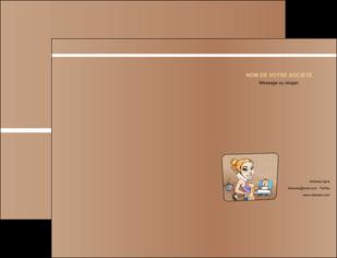maquette en ligne a personnaliser pochette a rabat menagere femme femme au foyer MLGI45402