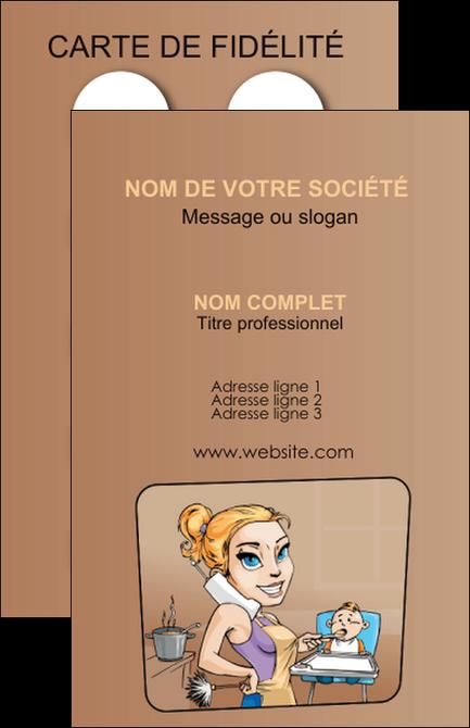 modele carte de visite menagere femme femme au foyer MIF45404