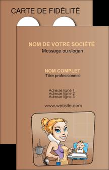 modele carte de visite menagere femme femme au foyer MLGI45404