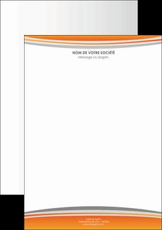 imprimerie tete de lettre standard design abstrait MLGI45560