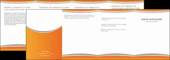 faire modele a imprimer depliant 4 volets  8 pages  standard design abstrait MLGI45566