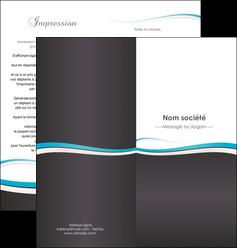 impression depliant 2 volets  4 pages  standard design abstrait MIF45698