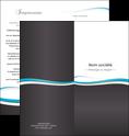 impression depliant 2 volets  4 pages  standard design abstrait MLGI45698
