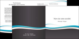 cree depliant 2 volets  4 pages  standard design abstrait MIF45704