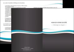 faire modele a imprimer depliant 2 volets  4 pages  standard design abstrait MIF45710