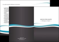 creation graphique en ligne depliant 2 volets  4 pages  standard design abstrait MIF45714