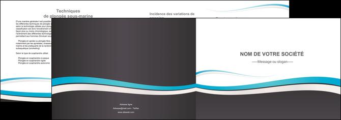 exemple depliant 2 volets  4 pages  standard design abstrait MLGI45724