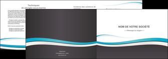 exemple depliant 2 volets  4 pages  standard design abstrait MIF45724