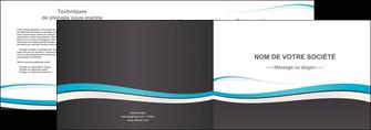 impression depliant 2 volets  4 pages  standard design abstrait MIF45726