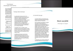 modele en ligne depliant 3 volets  6 pages  standard design abstrait MIF45740