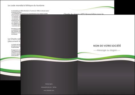 personnaliser maquette depliant 2 volets  4 pages  standard design abstrait MIS45758
