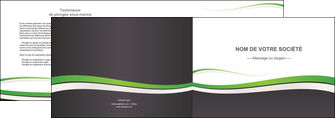 faire modele a imprimer depliant 2 volets  4 pages  standard design abstrait MIF45772