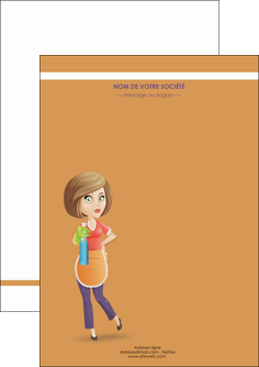 personnaliser maquette flyers menagere femme femme au foyer MLGI45788