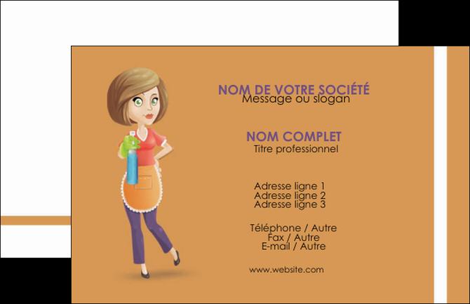 personnaliser modele de carte de visite menagere femme femme au foyer MIF45790