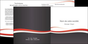 modele en ligne depliant 2 volets  4 pages  texture contexture structure MLGI45836