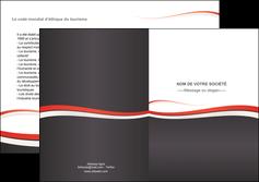 cree depliant 2 volets  4 pages  texture contexture structure MLGI45846