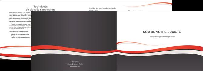realiser depliant 2 volets  4 pages  texture contexture structure MLGI45856