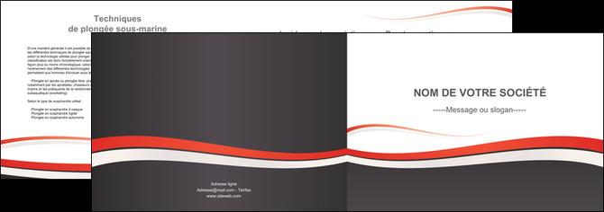 modele depliant 2 volets  4 pages  texture contexture structure MLGI45858