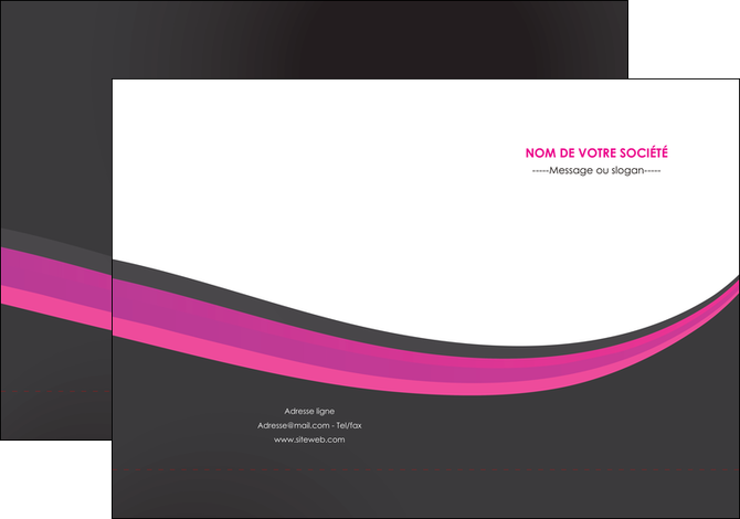 faire modele a imprimer pochette a rabat standard texture structure MLGI45914