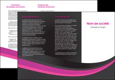 Commander Dépliant 3 volets ( 6 pages )  modèle graphique pour devis d'imprimeur Dépliant 6 pages pli accordéon DL - Portrait (10x21cm lorsque fermé)